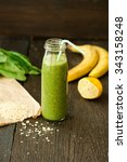 detox green smoothie with... | Shutterstock . vector #343158248