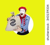Mime With Money Bag.emotional...