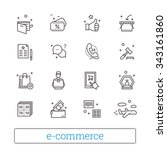 e commerce  retail  shopping... | Shutterstock .eps vector #343161860