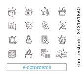 e commerce  retail  shopping... | Shutterstock .eps vector #343161860