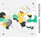 abstract modern geometric... | Shutterstock .eps vector #343162256