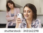 mother concerned about teen... | Shutterstock . vector #343162298