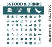 food  drinks  grocery  icons ... | Shutterstock .eps vector #343179800