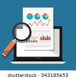 analitycs search and seo... | Shutterstock .eps vector #343185653
