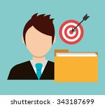 business project management... | Shutterstock .eps vector #343187699