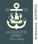 banner with an anchor and a... | Shutterstock .eps vector #343190714