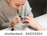 process of doing manicure in... | Shutterstock . vector #343191014
