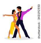 the salsa dancers | Shutterstock .eps vector #343192550