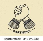 two business partners agreed a... | Shutterstock .eps vector #343193630