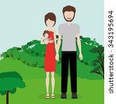 happy family design  vector... | Shutterstock .eps vector #343195694