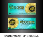 gift voucher template on blue... | Shutterstock .eps vector #343200866