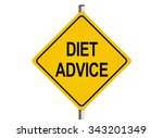 diet advice. road sign on the...   Shutterstock . vector #343201349