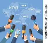 world live news report press... | Shutterstock .eps vector #343203383