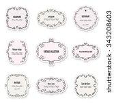 vintage frames and labels set.... | Shutterstock .eps vector #343208603