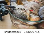 good catch fisherman .... | Shutterstock . vector #343209716