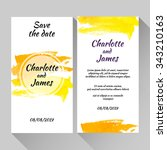 save the date card with hand... | Shutterstock .eps vector #343210163