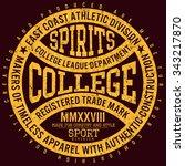 college spirits college...   Shutterstock .eps vector #343217870