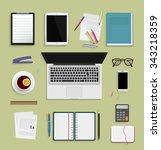 flat modern design vector... | Shutterstock .eps vector #343218359