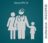 family practice vector... | Shutterstock .eps vector #343220930