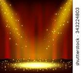 spotlight shining with... | Shutterstock . vector #343224803