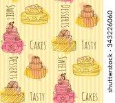 vector cake illustration.... | Shutterstock .eps vector #343226060