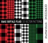 christmas lumberjack buffalo... | Shutterstock .eps vector #343226633