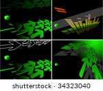 the color vector abstract... | Shutterstock .eps vector #34323040