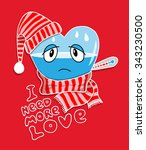 empty ill heart needs more love | Shutterstock .eps vector #343230500