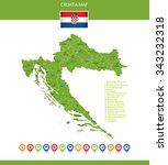 croatia map | Shutterstock .eps vector #343232318