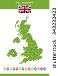 great britain map | Shutterstock .eps vector #343232423