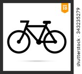 bicycle icon | Shutterstock .eps vector #343235279