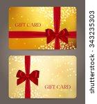 gift card or certificate ...   Shutterstock .eps vector #343235303