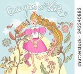 vector illustration of princess | Shutterstock .eps vector #343240883