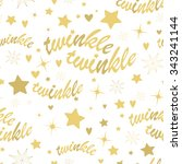 seamless pattern with gold... | Shutterstock . vector #343241144