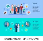 two horizontal banners of... | Shutterstock .eps vector #343242998