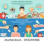 allergy horizontal banner set... | Shutterstock .eps vector #343244486
