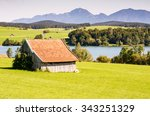 Barn At Lake Riegsee In Bavari...