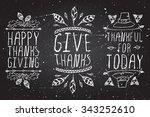 thanksgiving elements. hand... | Shutterstock .eps vector #343252610