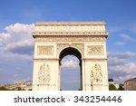 triumphal arch in paris | Shutterstock . vector #343254446