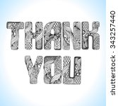 """thank you"" hand drawing... 