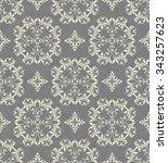 seamless victorian wallpaper | Shutterstock .eps vector #343257623