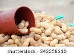 dried peanuts in closeup | Shutterstock . vector #343258310
