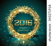 vector 2016 happy new year... | Shutterstock .eps vector #343271918