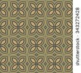 geometric pattern in retro... | Shutterstock .eps vector #343272428
