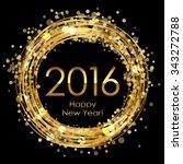 vector 2016 glowing background | Shutterstock .eps vector #343272788