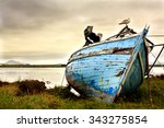 Old Boat Abandoned On The...