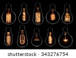 Glowing Vintage Light Bulbs Se...