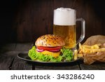 Fresh Homemade Burger With In...