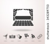 theater stage icon with shadow  ... | Shutterstock .eps vector #343289753