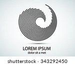 round shape. logo design...   Shutterstock .eps vector #343292450